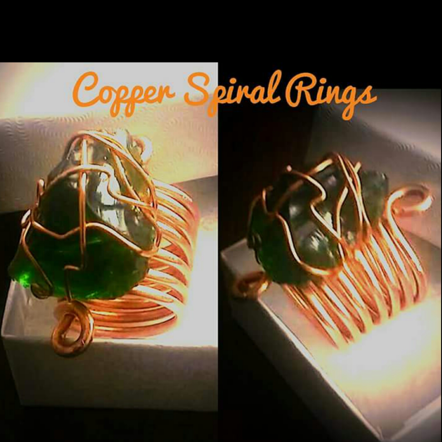 Copper-Gemstone-Spiral-Ring